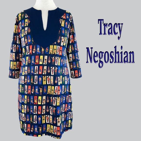 f978a1c1eb Tracy Negoshian Dresses | Beach Towel Print 34 Sleeve Dress Wzip ...